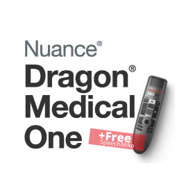 Dragon Medical One Cloud Speech Recognition - 2 Year + Free SpeechMike
