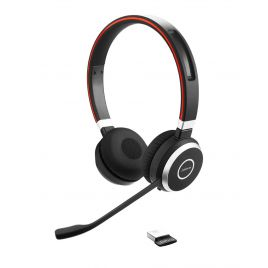 Jabra Evolve 65 Wireless Bluetooth Computer Headset with noise-cancelling microphone
