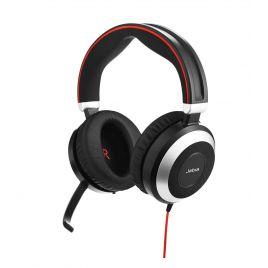 Jabra Evolve 80 USB Active Passive Noise Cancelling Headset USB-c & USB-A option