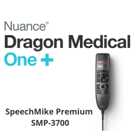 Dragon Medical One with SpeechMike SMP3700 Dictation Microphone - Upfront 12-Month Subscription