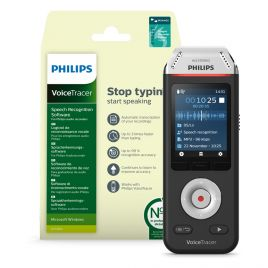 Philips DVT2810 VoiceTracer with Dragon DVR automatic speech-to-text transcription