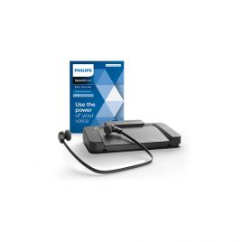 Philips 7177 Transcription Kit with SpeechExec Standard V11 Software for Windows 10 & USB Foot Control