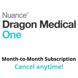 Dragon Medical One Cloud Speech Recognition - Month-to-Month, No Fixed Term