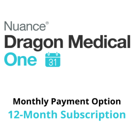 Dragon Medical One Cloud Speech Recognition - Monthly Payment Option