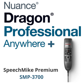 Dragon Professional Anywhere + Dictation Microphone