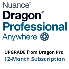 Dragon Professional Anywhere UPGRADE from Dragon Professional Individual or Dragon Professional Group