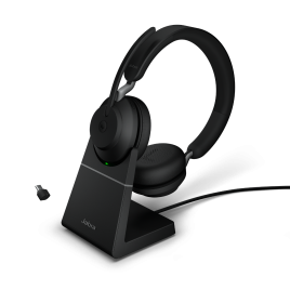 Jabra Evolve2 65 Duo Wireless Bluetooth Headset with Charging Stand