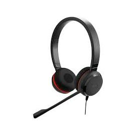 Jabra Evolve 30II USB & 3.5mm Stereo Headset. Double-ear headphones with noise-cancelling microphone