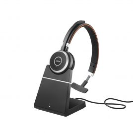 Jabra Evolve 65+ Wireless Bluetooth Headset with charging stand