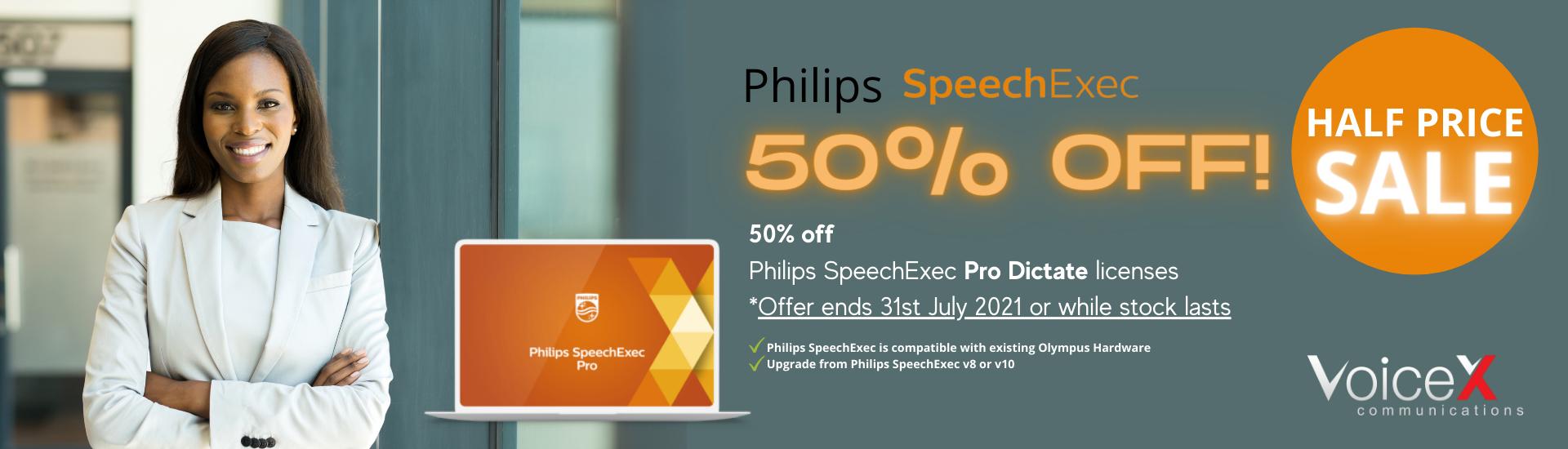 Philips SpeechExec Pro Dictate Half Price Sale