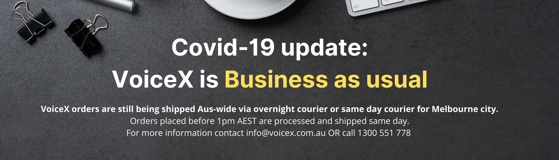Covid-19 Update: Business as usual